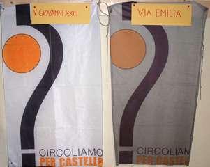 Bandiere in due punti diversi della città