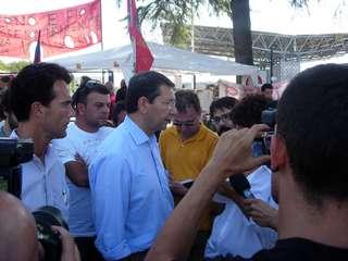 Marino incontra i lavoratori della CNH (foto Sportelli)