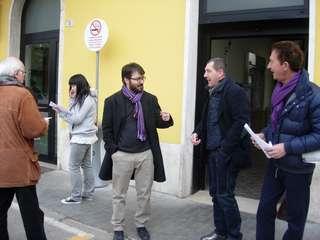 Castel Bolognese - Volantinaggio alla stazione