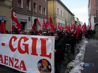 Manifestazione Cgil per il lavoro