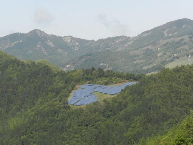Pannelli solari e paesaggio