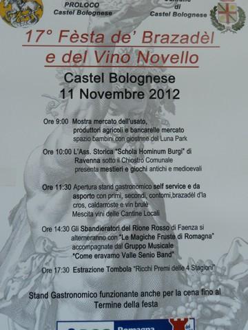 A Castel Bolognese, Bracciatello e Vino novello