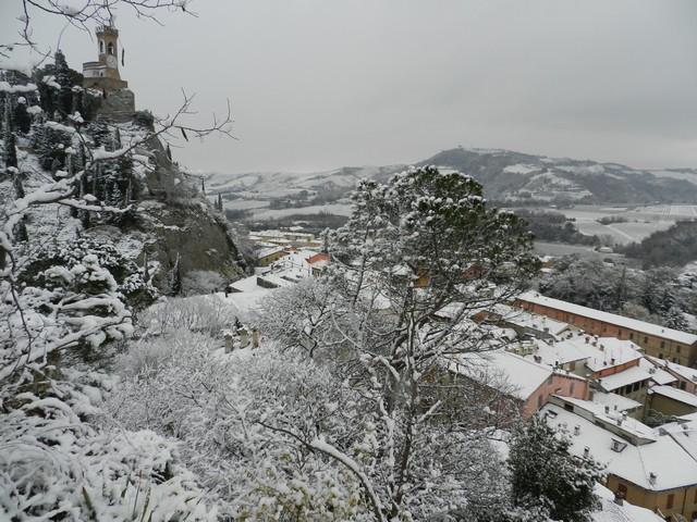 Brisighella con la neve