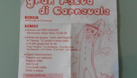 Castel Bolognese, 3 febbraio festa di carnevale