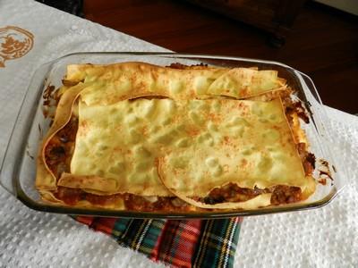 Lasagne al forno con le sfiandrine (pleurotus)