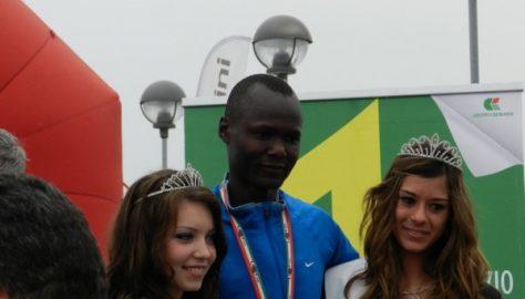 Maratona di Fano - Biwott sul podio