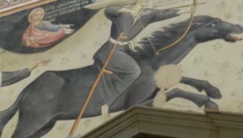 Lucignano - Affresco nella chiesa di san Francesco
