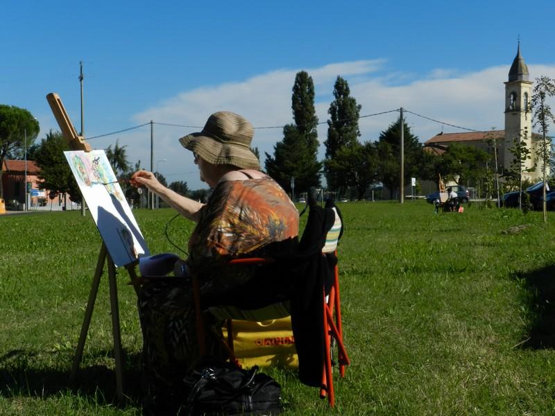 Tebano (Faenza) - Il paesaggio e la pittura