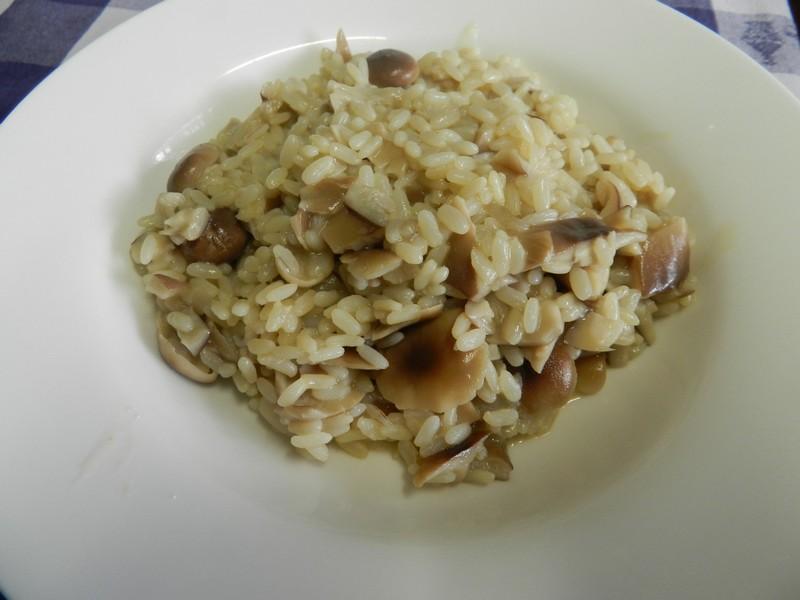 risotto-pioppini